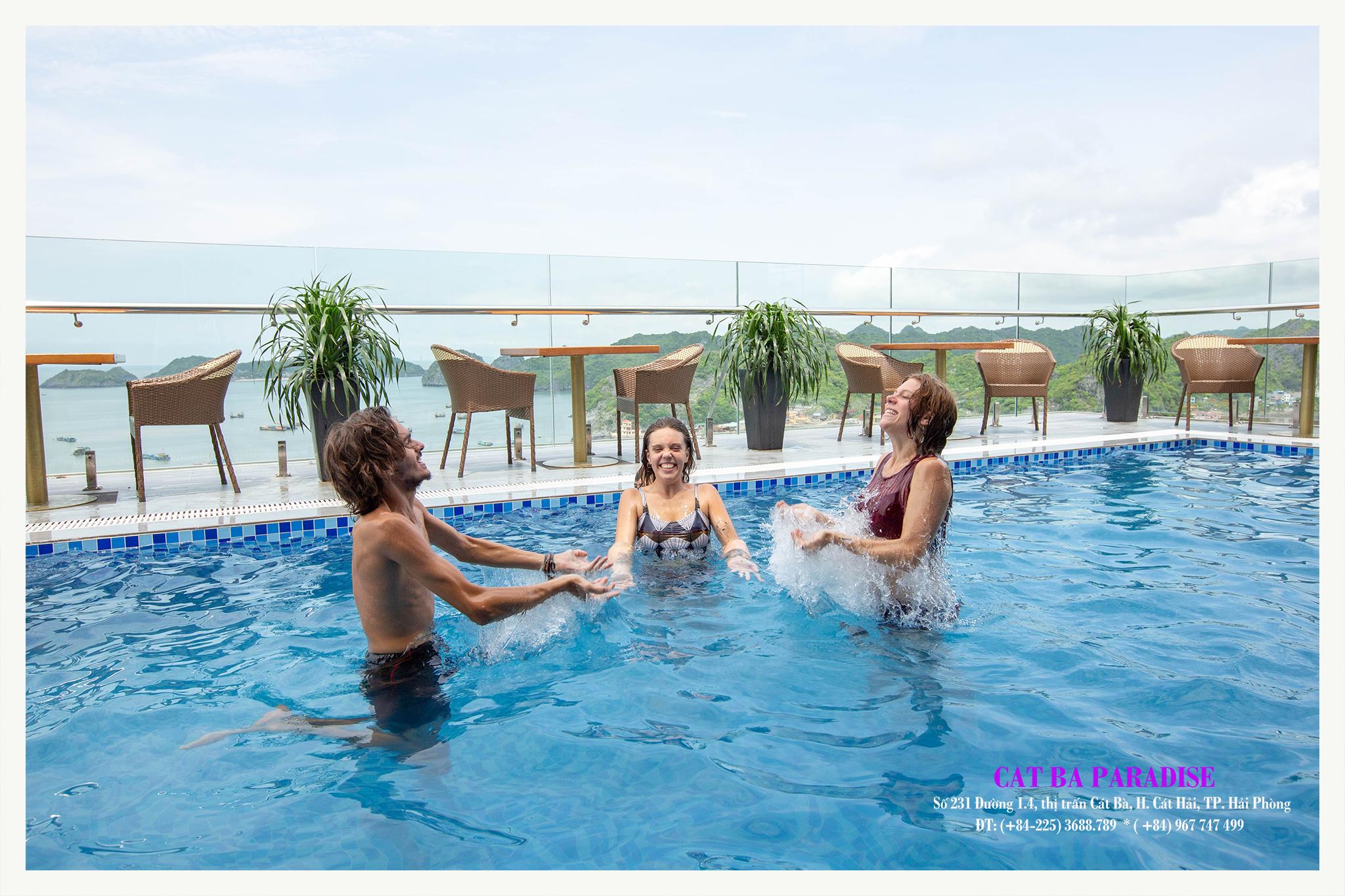 Đặt phòng Cát Bà Paradise có bể bơi tuyệt đẹp