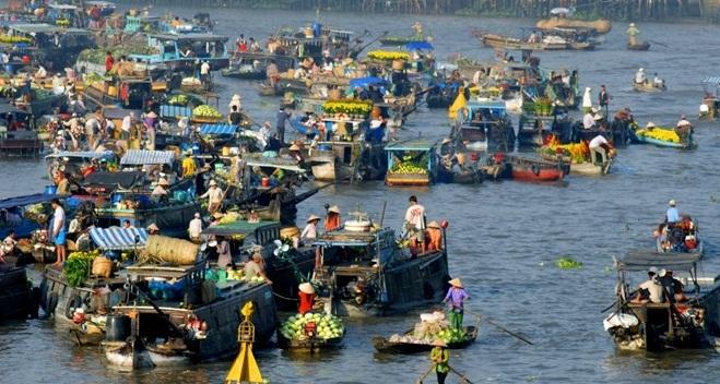Du lịch đường sông, chợ nổi